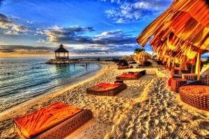 this photo was taken at a vacation resort in Montego Bay , Jamaica.